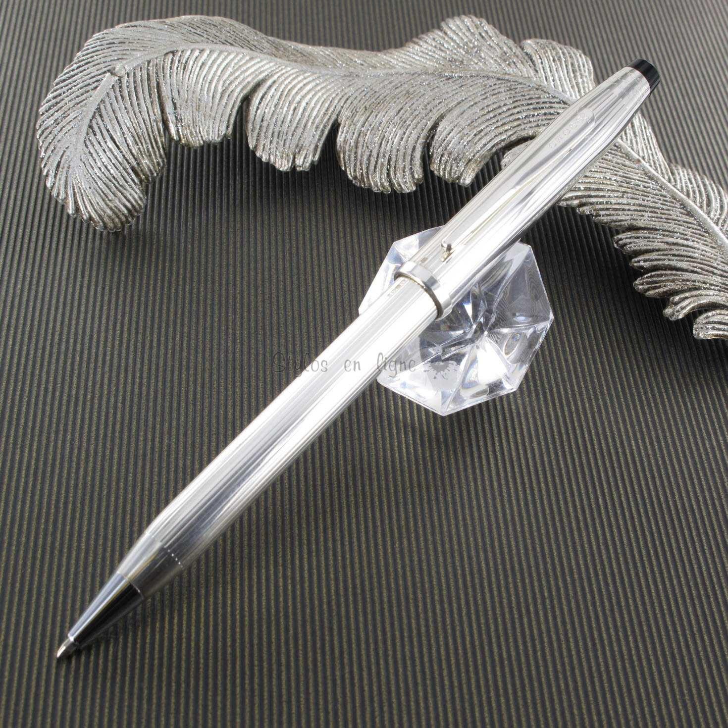 stylo bille cross argent