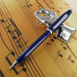 Stylo Bille Cross® Century II Précieux Laque Bleue & Rhodium