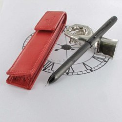 "Coffret Stylo Multifonctions Cross® ""Tech3+"" Noir Mat Guilloché + Etui Rouge Cross®"